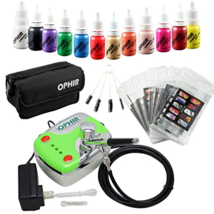 Amazon Ophir 12x Nail Ink Airbrushing 03mm Airbrush Kit With