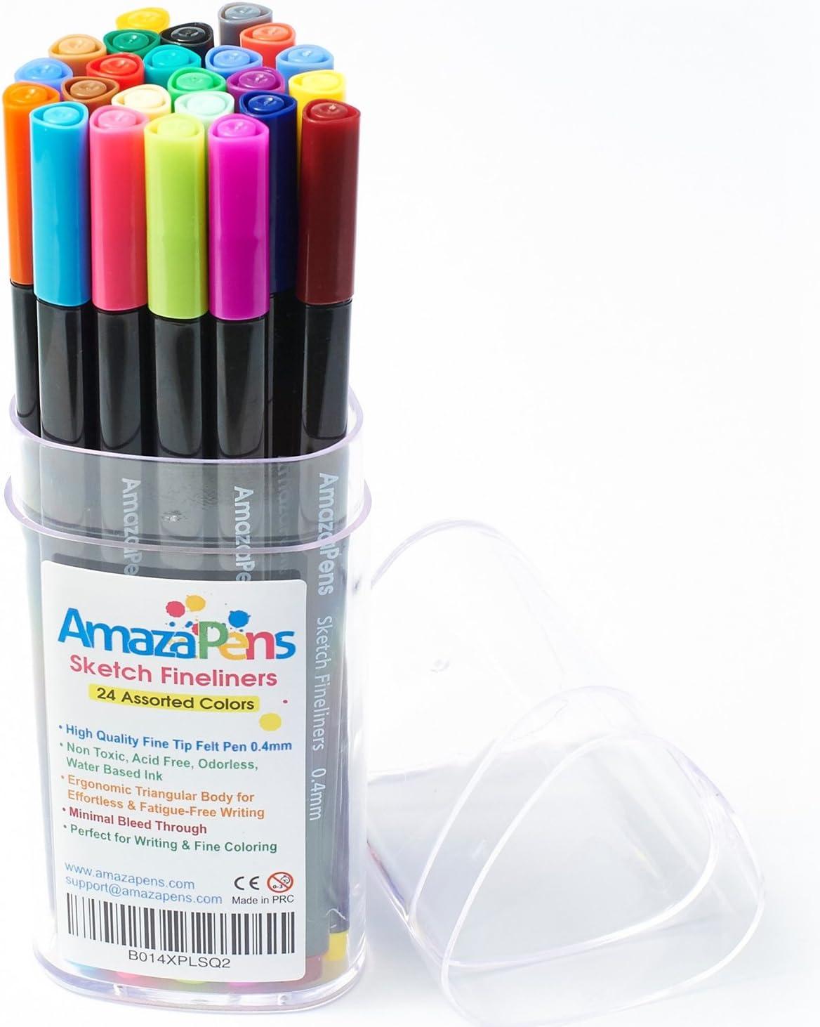 - Amazon.com : AmazaPens Fineliner Coloring Pens Premium Sketch