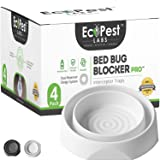 Bed Bug Interceptors - 4 Pack | Bed Bug Blocker (Pro) Interceptor Traps (White) | Insect Trap, Monitor, and Detector for…