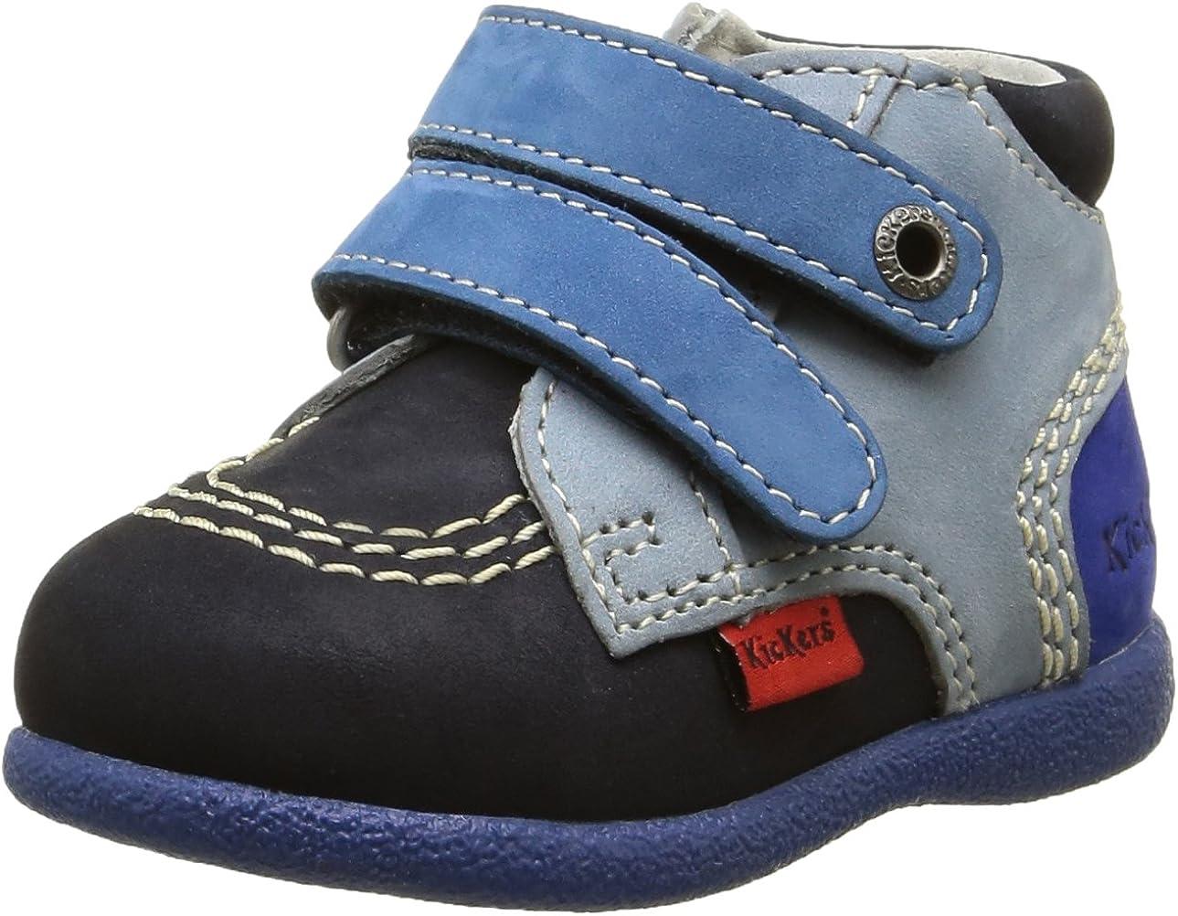 Kickers Babyscratch, Chaussures Marche bébé garçon, Bleu