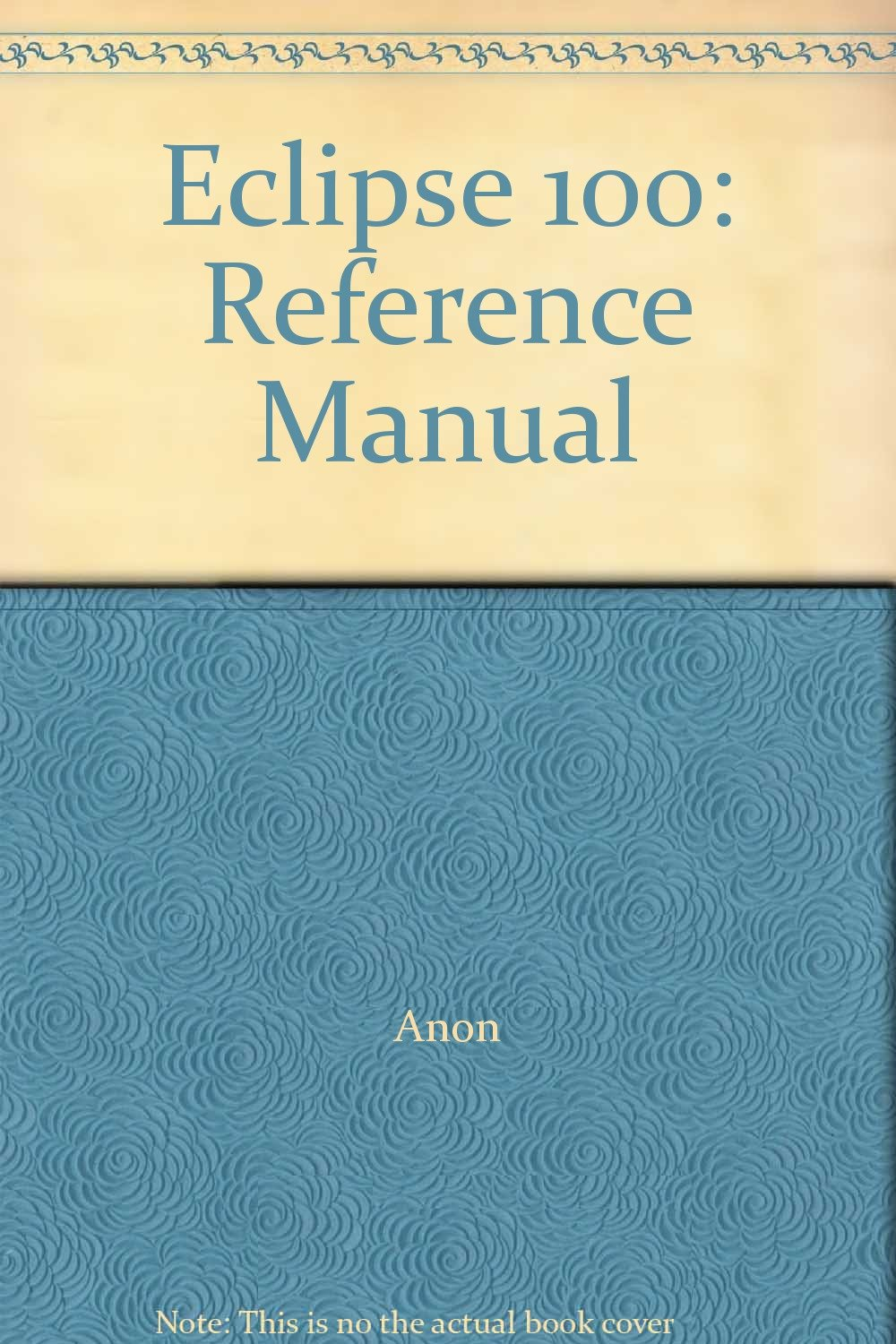 eclipse 100 reference manual anon amazon com books rh amazon com Reference Manual Clip Art eclipse reference manual schlumberger