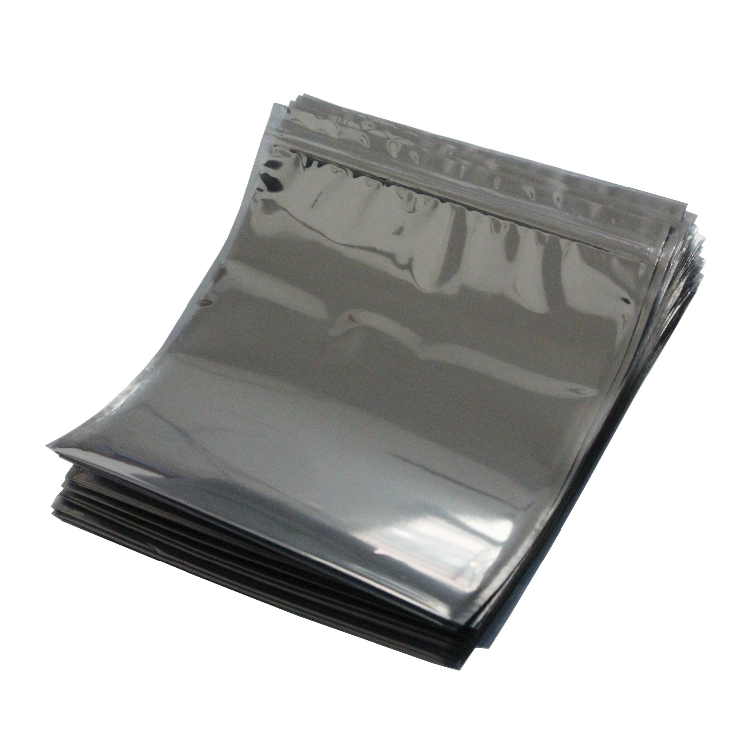 LJY 50 Pieces Antistatic Resealable Large Size Bags for Motherboard HDD and Electronic Device, 21cm x 24cm / 8.3in x 9.5in by LJY (Image #1)