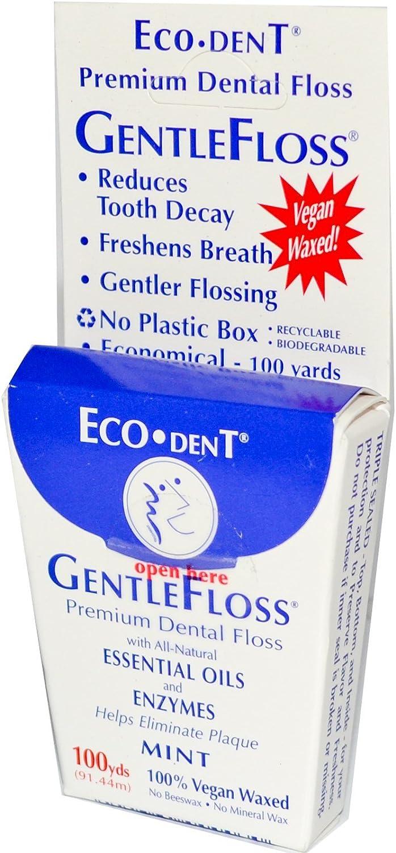 Eco-Dent, Gentle Floss, Mint, 100 Yards (91.44 m) - 2pc