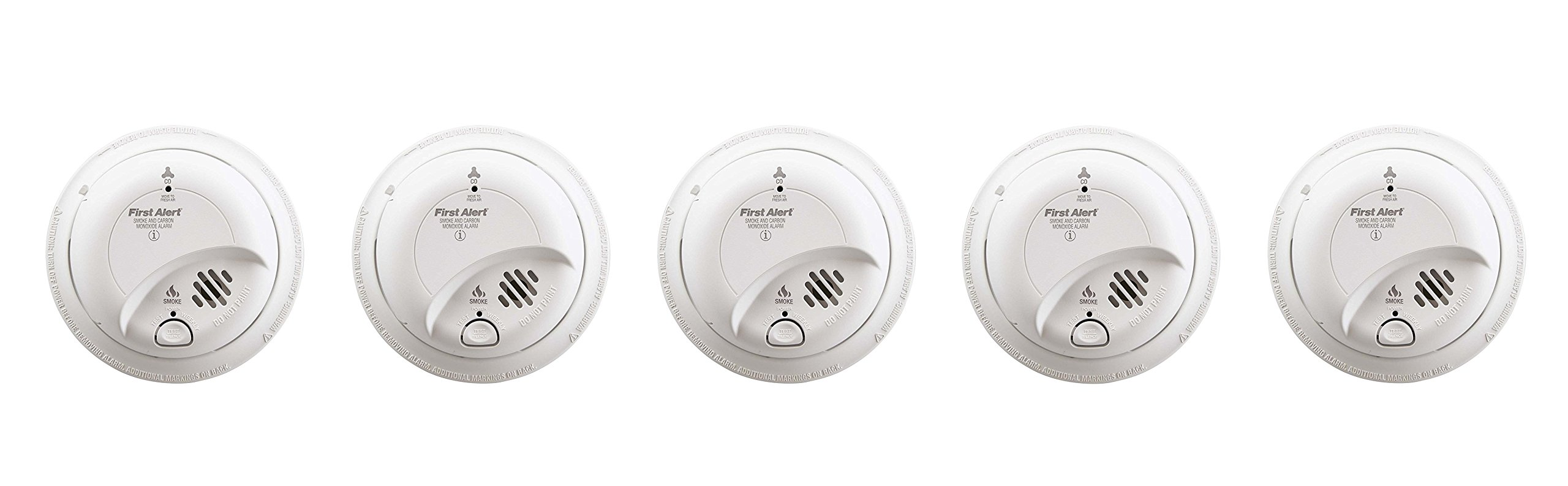First Alert BRK SC-9120B cyGQwj Hardwired Smoke and Carbon Monoxide Alarm with Battery Backup, 5 Units