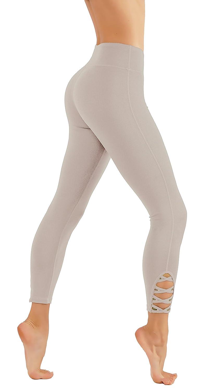 Cf321l.moc CodeFit Yoga Pants Power Flex DryFit with CRIS Cross Leg Cutouts 7 8 Length Soled color Leggings Key Pocket