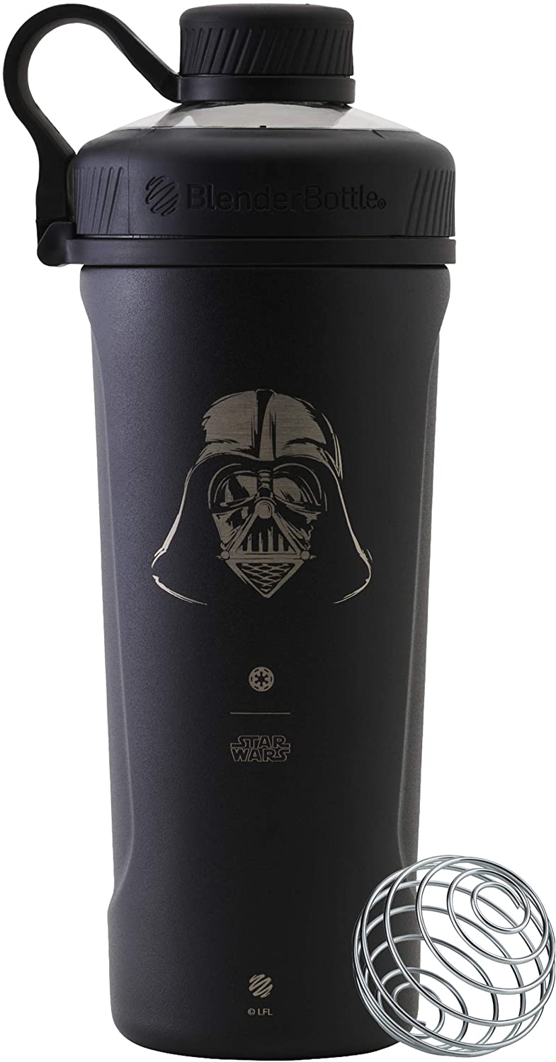 BlenderBottle C04276 Star Wars Radian Stainless Steel Shaker Bottle, 26oz, Darth Vader