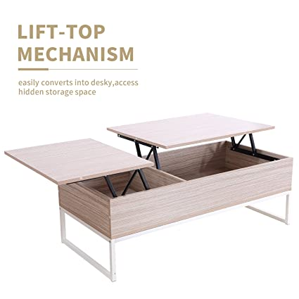 Amazoncom GTM Wood Lift Up Top Coffee Table with Hidden