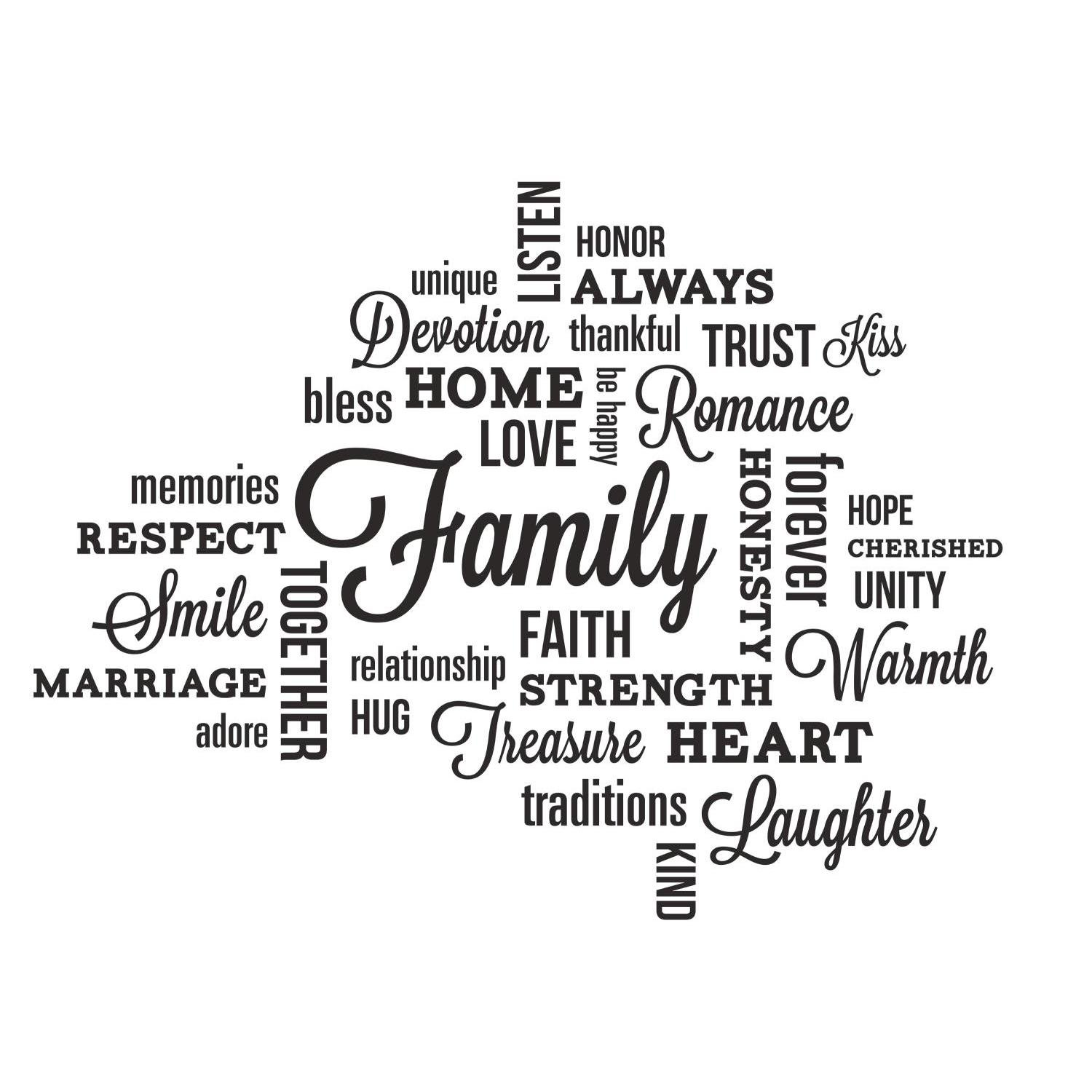 roommates rmk2741scs family quote peel and stick wall decals roommates rmk2741scs family quote peel and stick wall decals amazon com