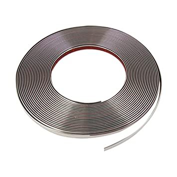 10mm x 15M Tono Plateado Ancho Flexible Molduras De Cromo Embellecedor En Tira: Amazon.es: Coche y moto