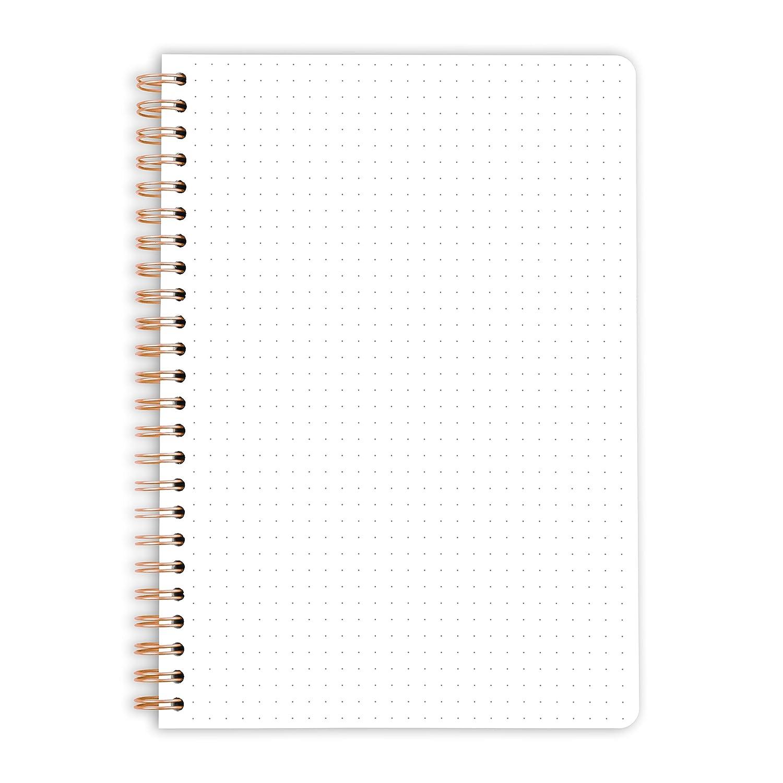 color gepunktet 60 Blatt DIN A5 tapa blanda para organizaci/ón Bullet Journal y mensaje: /«keep life simple/» Purepaper DIN A5 Cuaderno con anillas de espirales