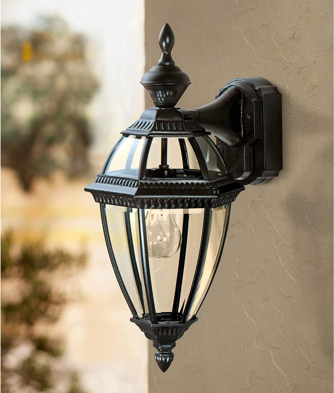 Heath Zenith Heritage Style 150 Degree Motion-Activated Lantern HZ-4291-BK, 10.48 x 12.60 x 12.60
