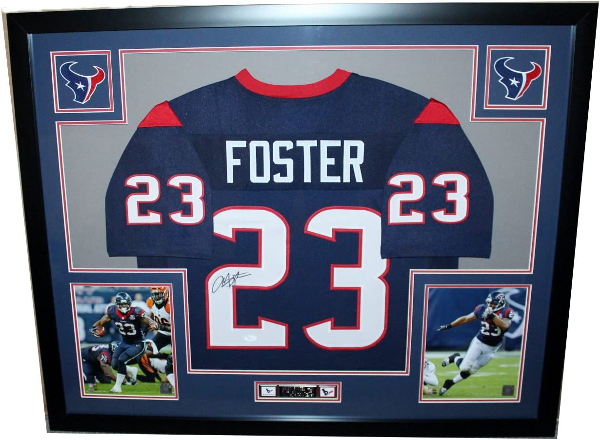 Amazon.com: Arian Foster Autographed Blue Jersey - Beautifully ...