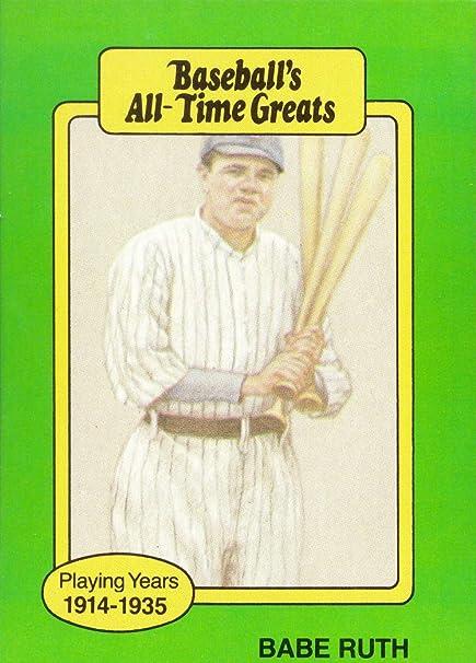1987 Hygrade All Time Greats Babe Ruth Baseball Card At