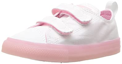 Converse Unisex Baby CTAS 2V OX White/Cherry Blossom Krabbelschuhe, Weiß (White/Cherry Blossom 100), 24 EU
