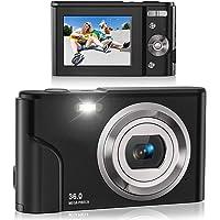 Digital Camera, Lecran FHD 1080P 36.0 Mega Pixels Vlogging Camera with 16X Digital Zoom,…