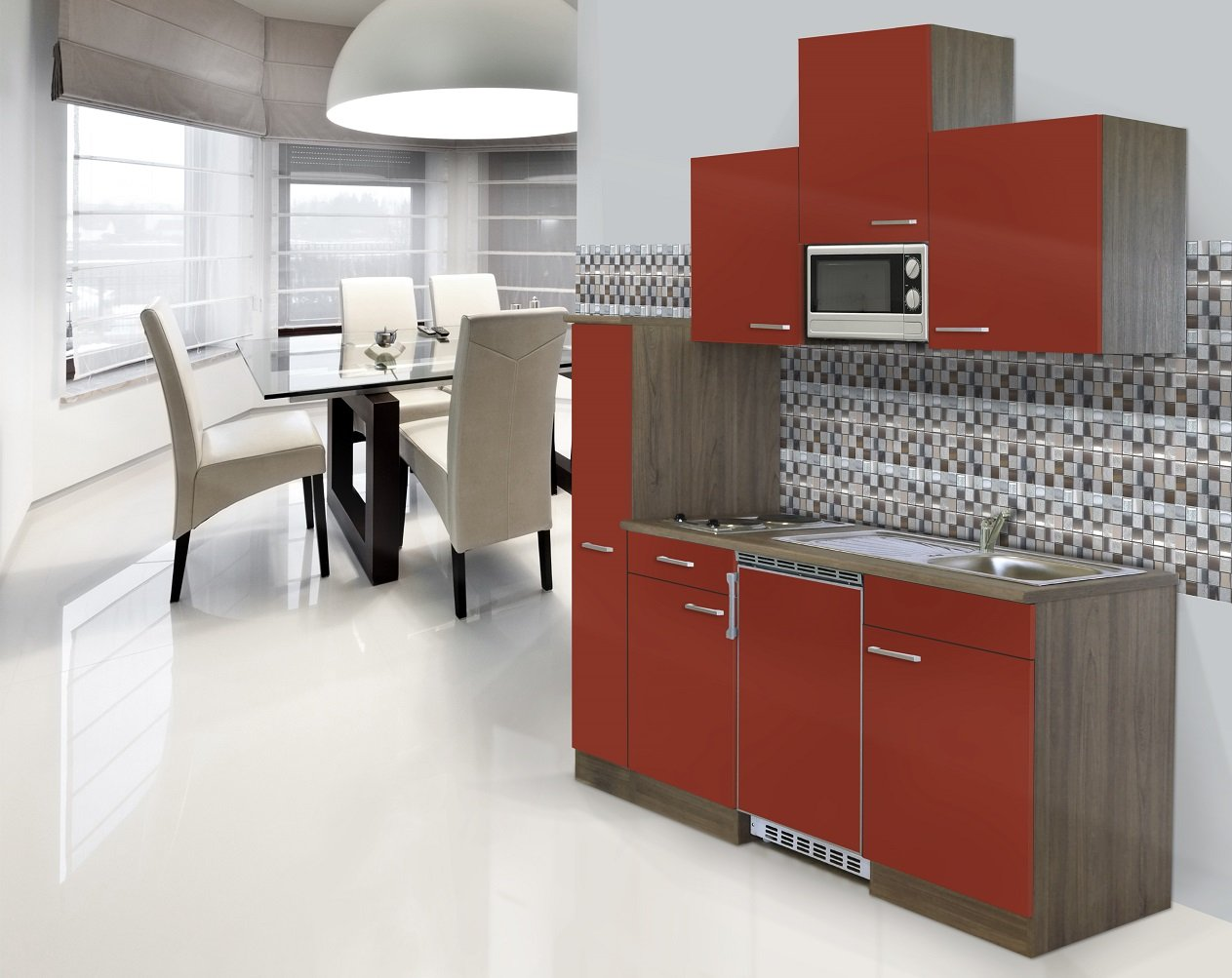 respekta CERAN Single Cocina - Bloque de Cocina (180 cm ...