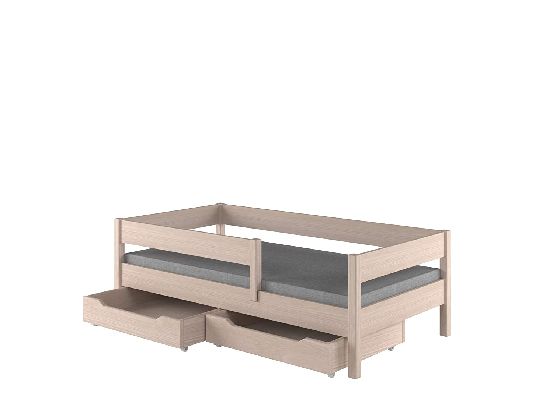 Childrens Beds Home Camas Individuales para ni/ños 140x70, Blanco ni/ños peque/ños Junior 140x70 // 160x80 // ??180x80 // ??180x90 // 200x90 con cajones SIN COLCH/ÓN Incluido ni/ños