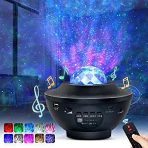 Night Light Projector, OTTOLIVES Star Projector Galaxy Projector & LED Nebula Cloud/Rotatable Ocean Wave Projector with Bluetooth Music Speaker for Baby Kids Bedroom/Home Theatre/Night Light Ambiance