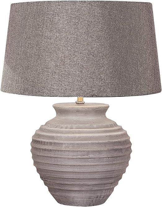 Lámpara de mesa hormigón pantalla tela gris antracita – diseño ...