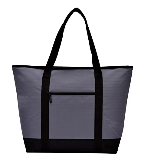 d0e1c5acece6 Image Unavailable. Image not available for. Color  Bravo Insulated Jumbo Zippered  Cooler Tote Bag ...