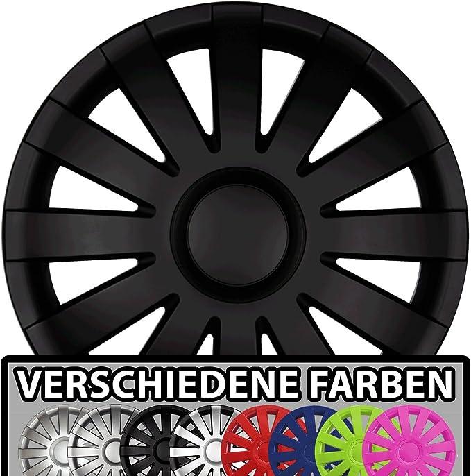 Eight Tec Handelsagentur Farbe Größe Wählbar 15 Zoll Radkappen Agat Schwarz Matt Passend Für Fast Alle Fahrzeugtypen Universal Auto