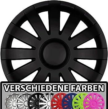 Eight Tec Handelsagentur Farbe Größe Wählbar 16 Zoll Radkappen Aga Schwarz Matt Passend Für Fast Alle Fahrzeugtypen Universal Auto