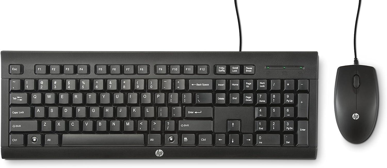 HP C2500 - Teclado y ratón (QWERTY Español, USB), color negro
