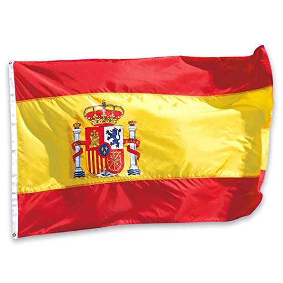 Bandera de España 150×90cm para La Decoración del Lugar Parezca Más Juvenil de Bandera Española: Amazon.es: Deportes y aire libre
