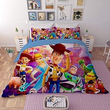 EVDAY Toy Story Duvet Cover Set for Kids Bed Set Super Soft Microfiber  Polyester Cute Cartoon 3D Design Bedding 3Piece Including 1Duvet ...