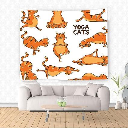 Amazon Com Nalahome Decor Collection Cats Doing Yoga Position