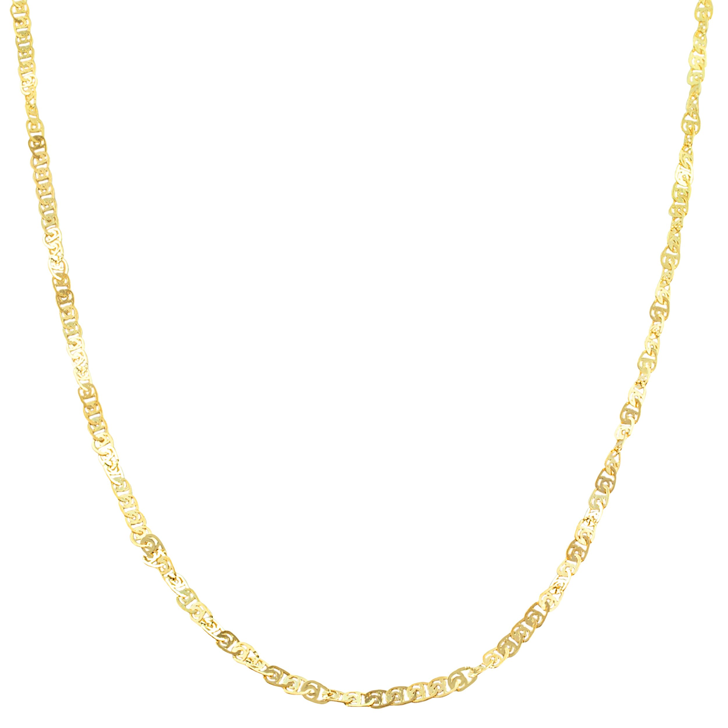 10k Yellow Gold 1.8mm Flat Twisted Love Chain (18 inch)