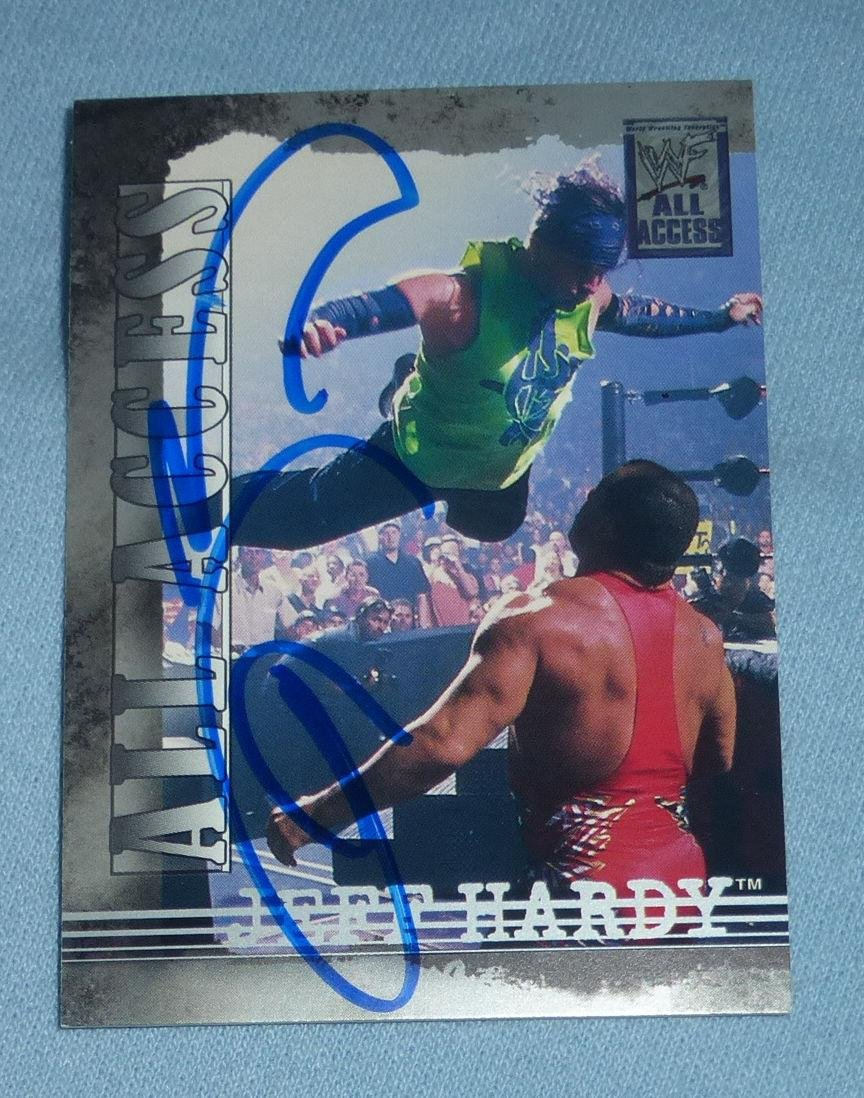 Wwe tna jeff hardy autographed 11x14 photo auto signed autograph - Jeff Hardy Signed 2002 Fleer All Access Wwf Wwe Card 10 Autograph Pro Wrestling Autographed Wrestling Cards At Amazon S Sports Collectibles Store
