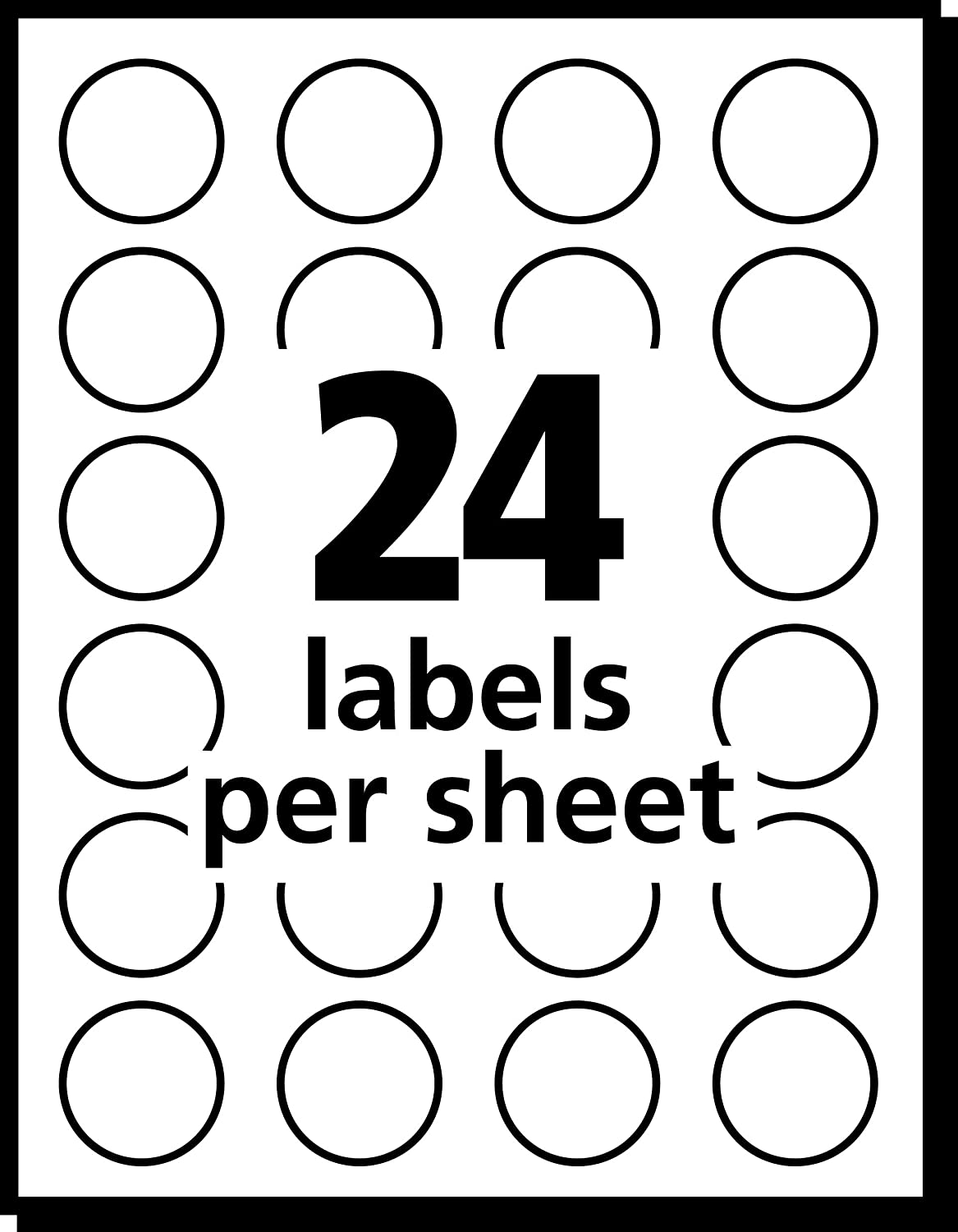 Avery Print/Write Self-Adhesive Removable Labels, 0.75 Inch Diameter, Yellow, 1, 008 per Pack (5462) : All Purpose Labels : Office Products