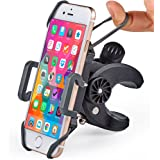 Bike & Motorcycle Phone Mount - for iPhone 11 (Xs, Xr, X, 8, Plus/Max), Samsung Galaxy S10 or Any Cell Phone - Universal Handlebar Holder for ATV, Bicycle or Motorbike. +100 to Safeness & Comfort