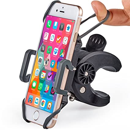 superior quality 7b618 99ed4 Bike & Motorcycle Phone Mount - for iPhone Xs (Xr, X, 8, 7, 6, Plus/Max),  Samsung Galaxy S10 or Any Cell Phone - Universal Handlebar Holder for ATV,  ...