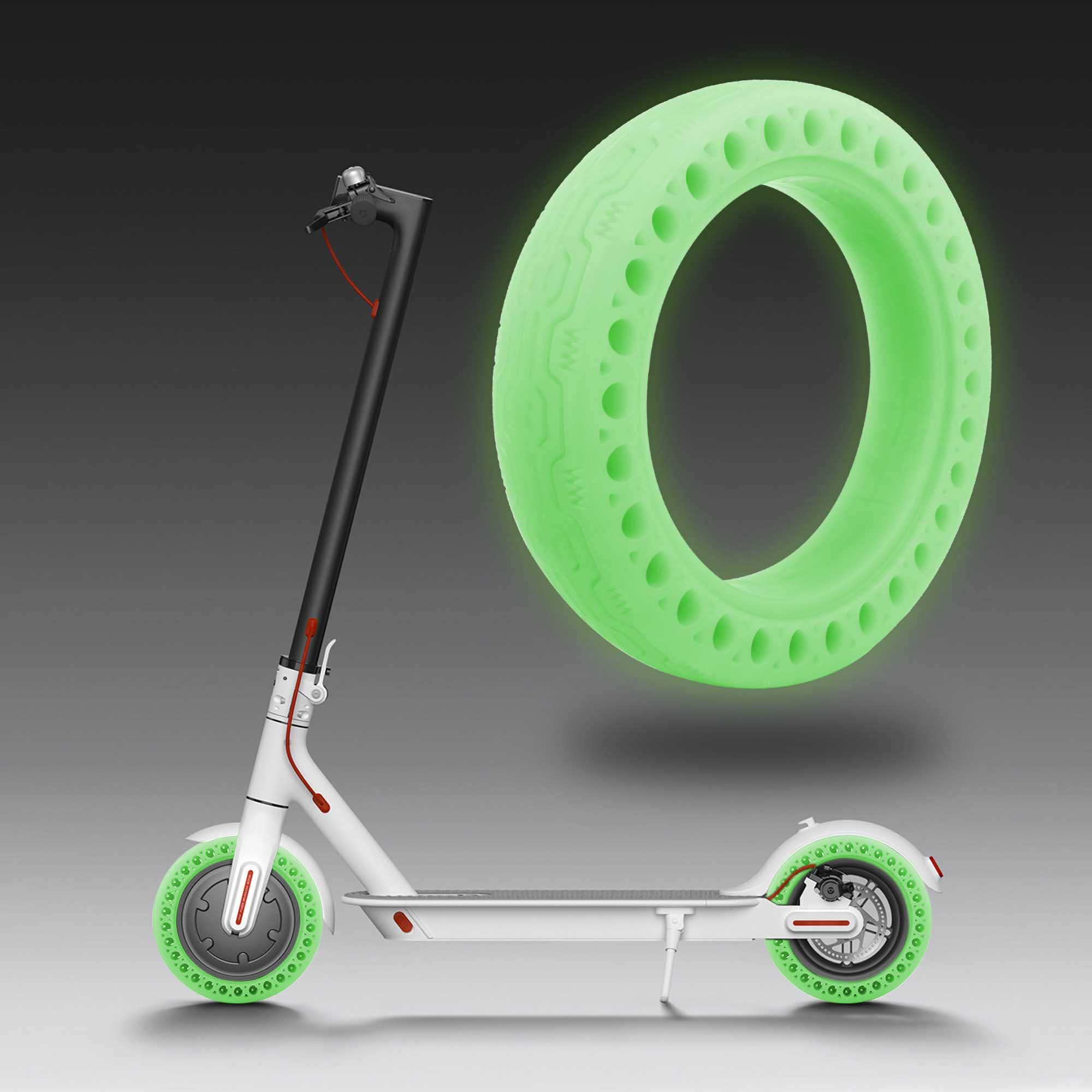TOMALL Honeycomb Rubber Solid Tire 8.5 Inch Fluorescent Tire Tubeless Luminous Solid Tyre for Xiaomi M365 Electric Scooter by TOMALL