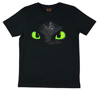 a9547b704 Dragons Kids T-Shirt Toothless Face, black: Amazon.co.uk: Clothing