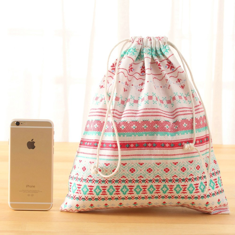 Irctek 旅行用保管バッグ 巾着 下着 トイレタリー おもちゃ バギーバッグ 3個組 B01JVKOAJQ  National