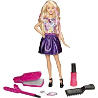 Barbie DWK49 FASHION AND BEAUTY DIY Crimps and Curls Doll Hair Play Doll, Style, Fashion and Fabulous Accessories For Girls