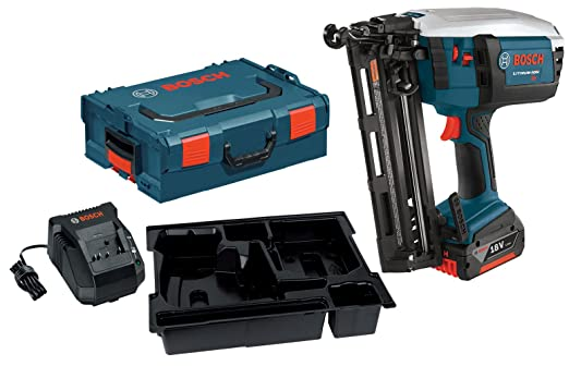 bosch fnh180kl 16 18 volt lithium ion 16 gauge finish nailer kit with 1 high capacity 40ah battery charger and l boxx 2 amazonca tools home