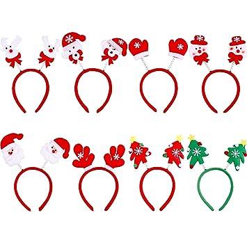 Sumind 8 Piezas de Diadema de Navidad Banda de Pelo Boppers de Cabeza  Accesorios de Pelo 0de12bec28e