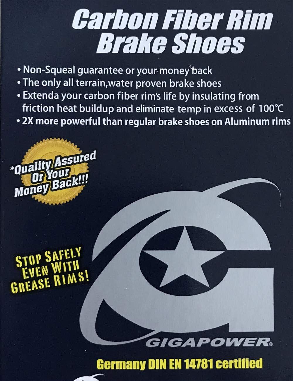 iFlyMars 2 Pair lot of Carbon Brake Pads Carbon Wheels Ceramic Brake Shoes fit Carbon Rims Use