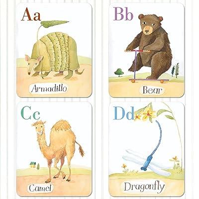 Alphabet Cards: Animal Parade Wall Art: Toys & Games