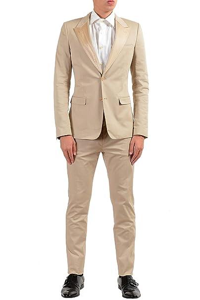 Amazon.com: Dolce & Gabbana - Traje de hombre de seda beige ...