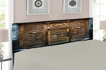 Amazoncom Lunarable Rustic Headboard For King Size Bed Old Door