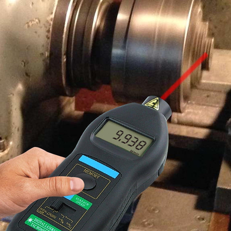 2/en 1/Digital Laser Tac/ómetro de Contacto de fotos