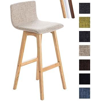 CLP Taburete de bar TAUNUS con tapizado de tela. El soporte es de ...