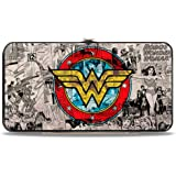 Buckle Down Women's DC Comics Wonder Woman Hinged Card Case Wallet