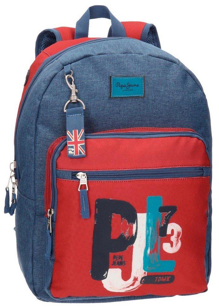 Pepe Jeans 65723A1 James Mochila Escolar, 42 cm, 21.42 Litros, Multicolor