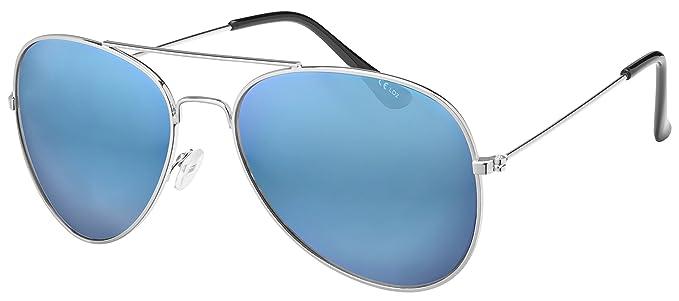 La Optica - Gafas de sol - aviador - para hombre Dorado Silber (Gläser: